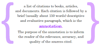 Annotated Bibliography   National History Day   NHD Bibliography in apa  Below is a sample annotated