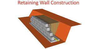 retaining wall construction retaining