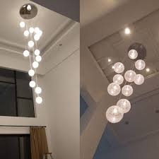 modern chandeliers globe glass ceiling lamp with 10 led light fixture luminaria avize re stair long home lighting in chandeliers from lights