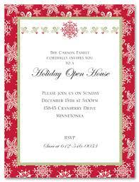 Open House Invite Samples Christmas Open House Invitation Sample Www Picsbud Com