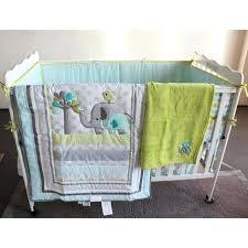new 7 baby bedding set crib sets elephant cartoon nursery burlington coat factory