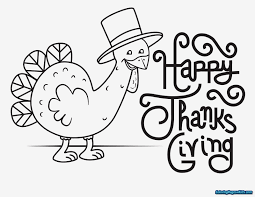Happy Thanksgiving Coloring Pages Printable For Kids 16001237
