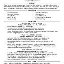 Resume Truck Driver Position Best Truck Driver Resume Example Livecareer Regarding Resume Truck