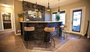 Home Bar Ideas Stone Stone Basement Bars At Contemporary Bar Ideas