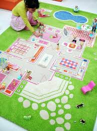 3 of 4 farm play mat green tractor animals county kids rug creche