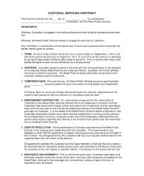 cleaning services contract templates 13 janitorial service contract templates word docs
