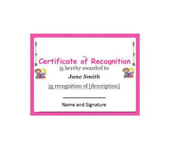 50 Free Certificate Of Recognition Templates Printable