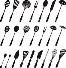 kitchen utensils silhouette vector free. Kitchen Utensils Silhouette Vector Stock Illustration Of. Free