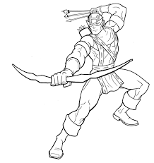 Small Picture Cartoon Hawkeye DrawingHawkeyePrintable Coloring Pages Free Download