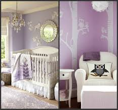 Two Examples Of Extraordinary Design Bird Owl Purple Baby Girl Nursery  Decals On Wall Hanging Lamp Shiny Glass Style