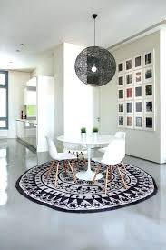what size rug under dining table dimensions kitchen impressive area