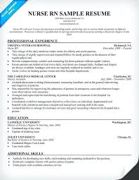 nurse resume samples out experience examples of applications  nurse