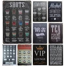 Small Picture Aliexpresscom Buy New Drink Menu Chic Home Bar Vintage Metal