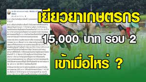 เงินเยียวยาเกษตรกร 15,000 บาท รอบที่ 2 เข้าวันไหน ? #เยียวยาเกษตรกร -  YouTube
