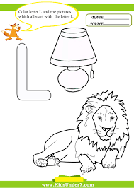 Learning Letter L Coloring Page For Kids Dringrames Org