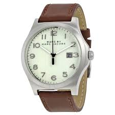 marc by marc jacobs jimmy white dial brown leather men s watch marc by marc jacobs jimmy white dial brown leather men s watch mbm5045