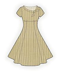 Dress Patterns Free Online Unique Flared Dress Sewing Pattern 48 Madetomeasure Sewing Pattern