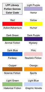 Book Lists Fiction Genres Color Code