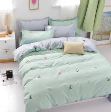 ocean style single queen king size bed set pillow cases quilt duvet cover new