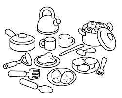 Small Picture Coloring Page Kitchen and cooking coloring pages 10