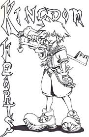 Small Picture Awesome Printable Kingdom Hearts Coloring Pages Colouring And