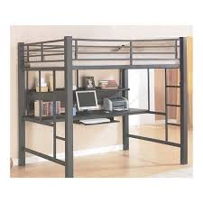 metal bunk bed with desk underneath. Brilliant Full Size Metal Loft Bed Total Fab Kids With Workstation Desk  Underneath Metal Bunk Bed With Desk Underneath N