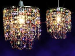 mesmerizing chandelier light shades two lights elegant and luxurious with all the colored crystals