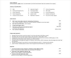 Free Download Doc Format Automobile Resume Template