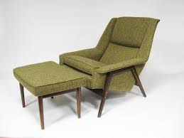 Folke Ohlsson lounge chair and ottoman by Dux