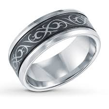 large view triton celtic design wedding band tungsten