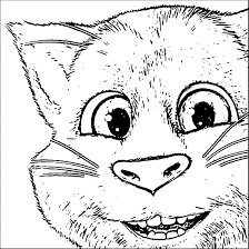 Talking Tom Cat Coloring Pages | Wecoloringpage
