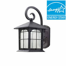 home decorators collection aged iron outdoor led wall lantern y37029aled 292 the home depot