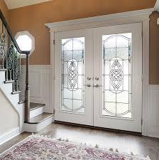 options for decorative exterior glass doors