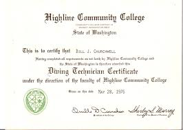 billy joe churchwell highline community college applied science degree in marine technology