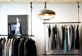 clothes hanging in closet room with no closet hanging clothes dining room closet design wooden hanging