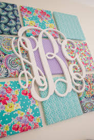 Monogram Decorations For Bedroom Diy Fabric Wall Art Project Nursery