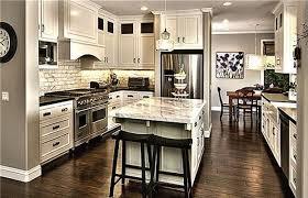 off white cabinets dark floors.  Floors Love The Offwhite Cabinets And Dark Wood Flooring In This Kitchen Throughout Off White Cabinets Dark Floors