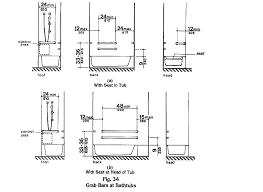 cool ada grab bar height l3755453 bathroom grab bar height bars bathtub bath tub drawing