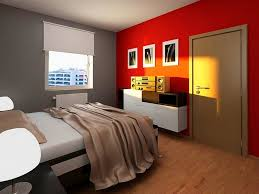 interior small master bedroom design large white laminated cabinet storage walls painted of grey brown wall