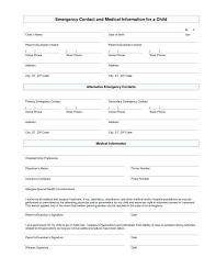 Parent Contact Information Sheet Template Rsenterprises Co