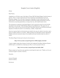 cover letter english template cover letter english
