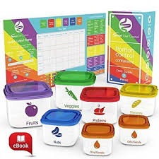 Details About 21 Day Portion Control Diet Container 7 Kit Diet Fix Weight Loss Guide Food Plan