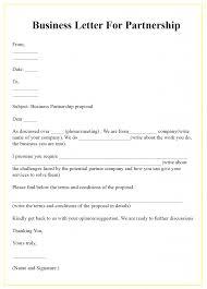 Free Business Letter Samples Free Business Letter For Partnership Template Sample