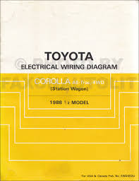 1988 toyota corolla all trac 4wd station wagon wiring diagram manual 1988 toyota corolla all trac 4wd station wagon wiring diagram manual original