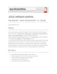 web developer resume resume format pdf web developer resume web developer resume template herman marina web designer front end developer cv resume
