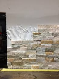 awesome stacked stone tile fireplace with outdoor fireplace mantel lovely how to install stacked stone tile