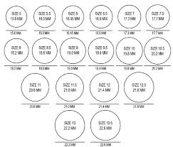 Ring Size Chart Online Ring Sizing Chart Tonimay