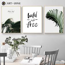 ART ZONE Wild And Free Letters <b>Nordic</b> Canvas Painting Natural ...