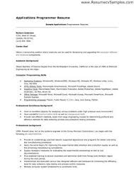 Resume Examples Templates Free Sample Programming Resume Examples