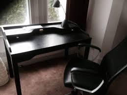 ikea gustav writing desk with raised shelf and drawers